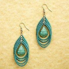 seed bead earrings by Jersica