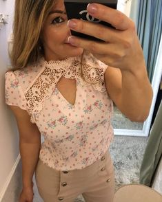 With my Calvin Kline pink pumps* Girl Outfits, Casual Outfits, Fashion Outfits, Love Fashion, Womens Fashion, Short Tops, Blouse Dress, Cheap Dresses, Casual Tops
