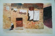 Watercolor landscape by me...