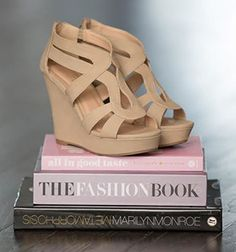 These fun, strappy, camel-colored wedges will add spunk to any outfit this spring and summer. They look great with dresses, shorts, or capris!