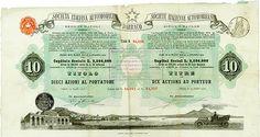 """HWPH AG - Historische Wertpapiere - Societá Italiana Automobili """"Darracq"""" Neapel, 15.07.1906, 10 Azioni di 25 Lire, #4095/64041-50"""