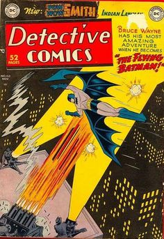 BAT-HISTORY, NOV 1949: It appeared Batman had gained the ability to fly in a tale from artist Dick Sprang in Detective Comics #153. After attending a lecture on bats by Professor Carl Wilde, Batman is fitted with large blue wings created by the professor which are controlled by his shoulder muscles. The flying adventures are later revealed to be a dream Bruce Wayne experienced after a violent fall.