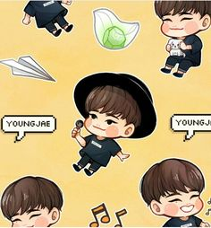 Got7 Fanart, Kpop Fanart, Mark Jackson, Jinyoung, Chibi, Got7 Funny, Got7 Youngjae, Fandom, Photo Illustration
