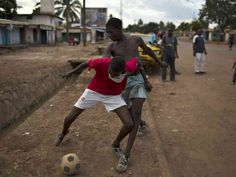 Image result for african boys playing soccer in central africa