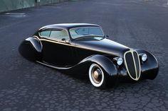 "Metallica's James Hetfield's ""Black Pearl"", 1948 Jaguar Hot Rod with a Ford V8."