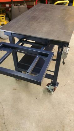 welding table plans or ideas Welding Bench, Welding Table Diy, Welding Cart, Welding Shop, Welding Tools, Metal Welding, Welding Projects, Welding Ideas, Diy Projects