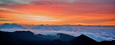 Haleakala at sunrise by Go Visit Hawaii, via Flickr - yes, its very cold up there on top of a volcano in the pre-dawn...but still...BEST. SUNRISE. EVER.  ...and you can rent a bike to ride back down on...