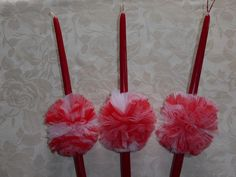 Handmade Easter Candles for Girls. Cost 5€/piece.