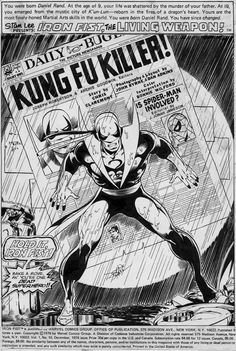 Iron Fist #10, page 1 by John Byrne & Dan Adkins.