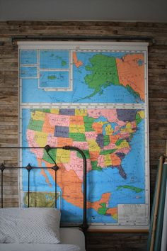 vintage pull down maps are cool
