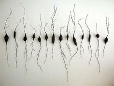 """Kyoung Ae Cho  Roots, 1995  branches, wire  48"""" x 82"""""""