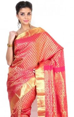 Pure Silk  Kanjeevaram Hand women Saree