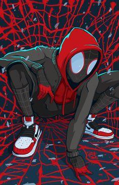 Spider-Man: Into the Spider-Verse Fan Art - Marvel Comics Marvel Comics, Heros Comics, Marvel Art, Marvel Heroes, Ms Marvel, Captain Marvel, Marvel Venom, Black Spiderman, Spiderman Spider