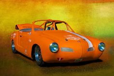 """Pinned as a convertible. To the best of my knowledge there was no convertible of this vintage. It is however """"Race Modified"""" and . Volkswagen Karmann Ghia, Vw T1, Volkswagen Golf, Volkswagen Germany, Ferdinand Porsche, Bugatti, Lamborghini, Karmann Ghia Convertible, Combi Wv"""