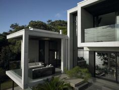 Boxy Container Abodes - The Karaka Bay House by Stevens Lawson Architects