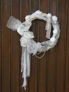 Shabby Chic Wreath  Wedding Wreath  Country by MyBurlapStudio