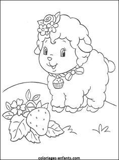 coloriage de mouton -  coloriages d'animaux