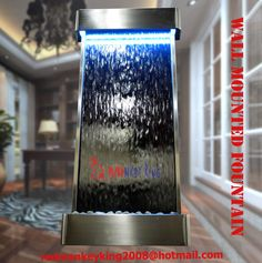 Pin by indoor waterfall fountain on indoor waterfall fountains will mounted indoor waterfall fountain 46by22 stainless steel frame tempered silver mirror workwithnaturefo
