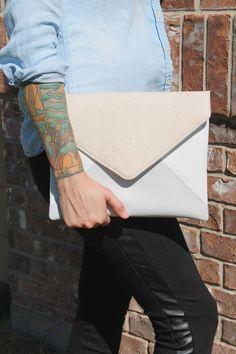Jet Colorblock Envelope Clutch - $55