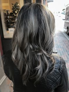 Ashy Grey \ Gray Silver Hair ❣️ Schwarzkopf Slate Grey and Dove Grey with a dark shadow root by #NSLH
