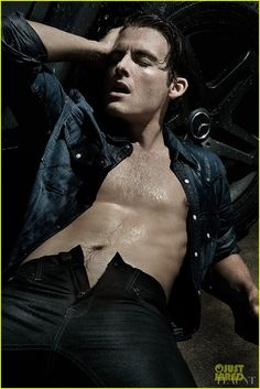 Kevin Zegers goes shirtless sexy for a feature in Flaunt magazine's Dye Issue,