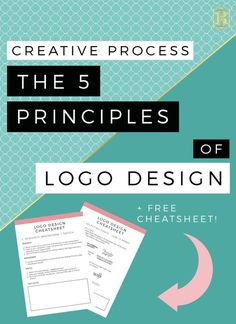 Let's get that creative process out in the open! Here we have the 5 principles of logo design - and with this free download cheatsheet that will give you some graphic design tips and tricks on how to create your brand logo in no time! Click through to grab the workbook now!