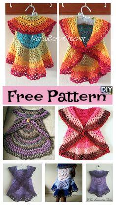 Crochet Ring Around Rosie Sweater & Vest – Free Patterns #freecrochetpatterns  #crochetpattern #vest #crochetsweater
