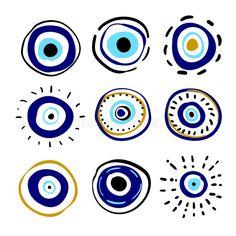 Epoxy Sol, Evil Eye Art, Greek Blue, Eye Illustration, Eyes Wallpaper, Eye Symbol, Eye Painting, New Art, Canvas Art
