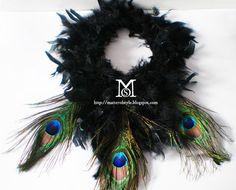 DIY : Peacock feather collar for the masquerade ball