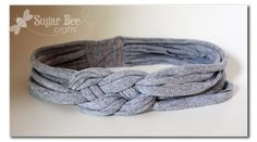 Knotted Head band with tshirt yarn #diy