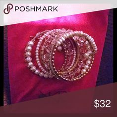 ??Moving Sale??Silpada KR pearl bracelet Silpada KR pearl bracelet. Looking for a wrist party then this is it. Pearls, brass, sterling, beading, Swarovski crystal and more. NWOT. Lovely bracelet. Silpada Jewelry Bracelets