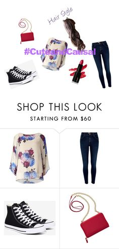 """""""#CuteandCausal"""" by millenrocks ❤ liked on Polyvore featuring River Island, Converse, TravelSmith, cute and causal"""