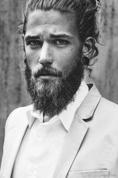 Ben Dahlhaus by Esra Sam Most Beautiful Man, Gorgeous Men, Beautiful People, Scandinavian Style, Ben Dahlhaus, Barber Shop Haircuts, Groomsmen Fashion, Viking Beard, Mens Fashion Blog
