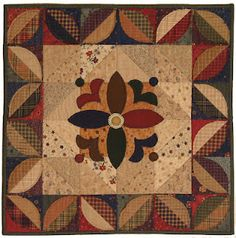 Kansas Troubles Quilters, miniature quilt