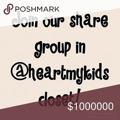 All Posh compliant closets welcome! Come join the share group in @heartmykids closet! We just recently moved there from @janismarie and need some new Poshers to join us! Ask me any questions you have or ask to be tagged. Thanks! Accessories