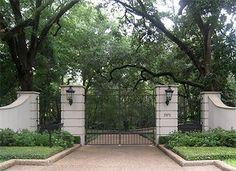 river oaks houston entrance gates   Driveway Gate of a Home in River Oaks, Houston, Texas