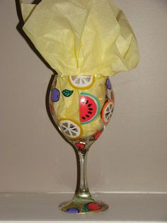 Sangria Hand Painted Wine Glass by brandiedmonds on Etsy, $20.00