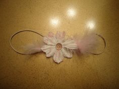 Infant or Toddler Cream and Pink flower baby by IsabellasObsession, $6.00