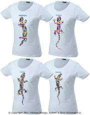 Lizard / Eidechse 4 Pack, Damen / Ladies T-Shirts