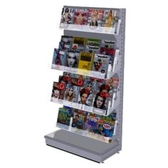 Brochure Rack Clear Wall Mount Literature Display With