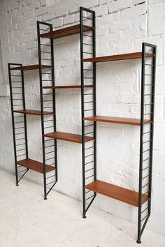 ladderax bookcase sold at cream and chrome mid century modern