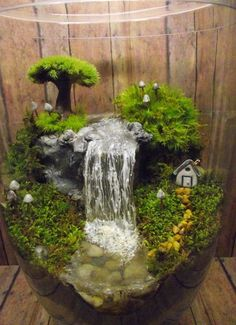 Add a Miniature Waterfall, Pond or River to your Terrarium - Unique Terrarium Accessory - Handmade.