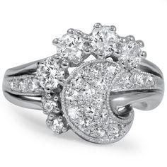 I LOVE this because it looks like a moon and stars :)  The Crystal Ring from Brilliant Earth