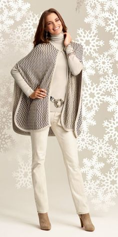 Winter Wow: The Chevron Chic Cape. #gifts #chicos #HolidayFeeling:
