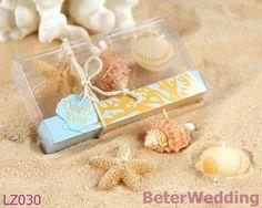 Les bougies de lumière de thé de plage dans la boîte de cadeau de corail de conception emploient comme faveurs de partie 72pcs, souvenirs de Gifts_Wedding d'anniversaire de 24set LZ030
