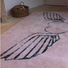alfombra Corazón Alas Nude | Tiendas On