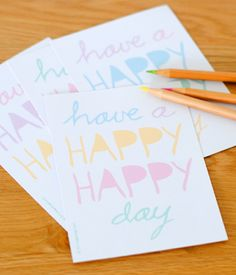 Bring a smile to a face with this printable postcard of happiness.