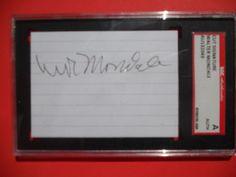 VICE PRESIDENT Walter Mondale signed autograph cut- SGC Slabbed