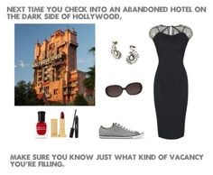 """""""Tower of terror"""" by mysterylullaby on Polyvore featuring Disney, Converse, Deborah Lippmann, Lipstick Queen, BaubleBar and Ace"""