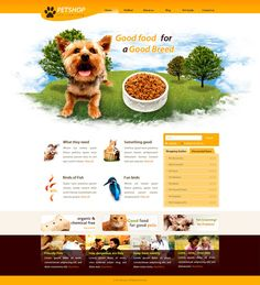 Pet website design inspiration shop web template free templates page